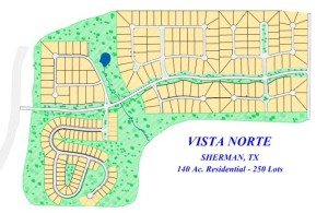 Vista Norte Residential Subdivision, Sherman, Texas