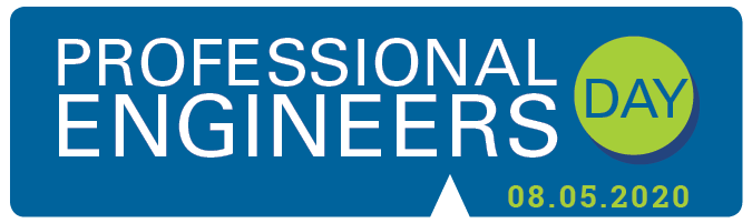 Professional Engineers Day Banner  with the date 08.05.2020